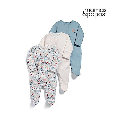 Mamas & Papas 花貝姆-連身衣3件組