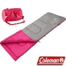 Coleman CM-22263_桃紅 夜光型兒童纖維睡袋/適溫7°C 露營睡袋/客廳毯