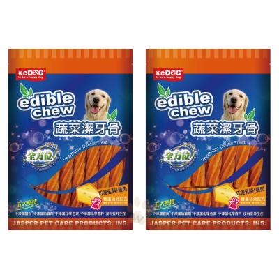 K.C.DOG《螺旋潔牙骨-起司+雞肉》