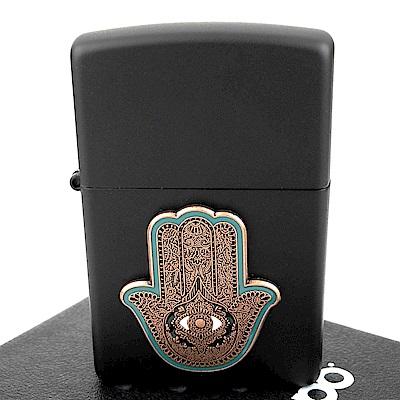 ZIPPO 美系~Hamsa Hand-法蒂瑪之手貼飾設計打火機