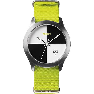 NIXON The Quad 混搭潮流時尚腕錶-黑x白/39mm