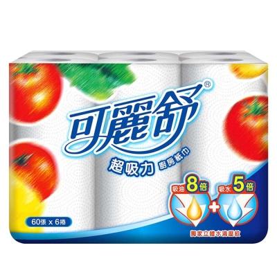 可麗舒廚房紙巾60張(6卷*6串/箱)