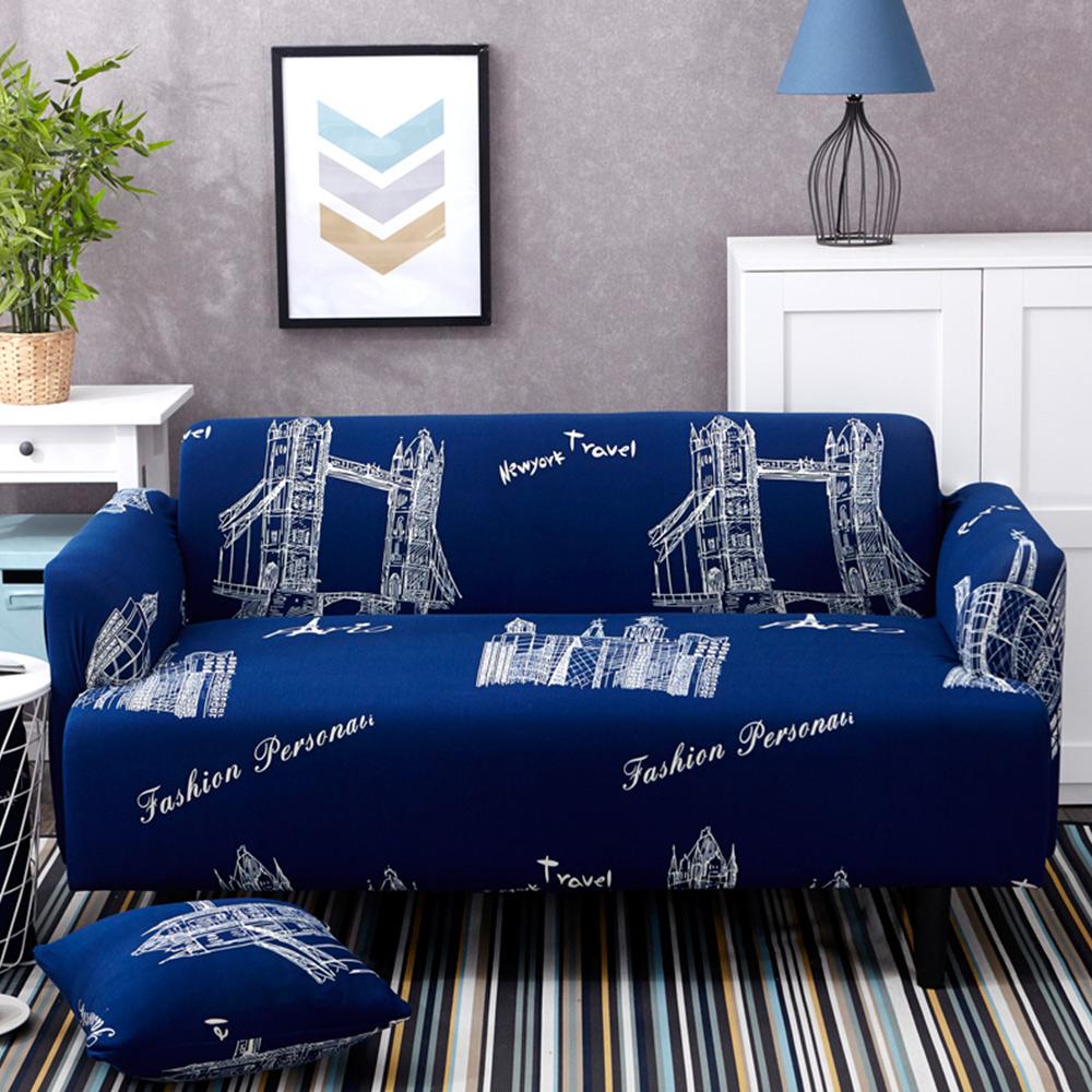 日創優品 倫敦鐵橋沙發套2人坐 (贈同款抱枕套x1)