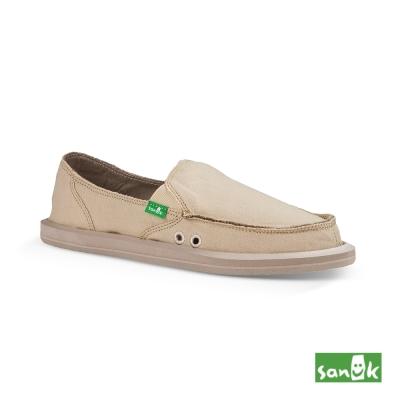 SANUK 基本款素面懶人鞋-女款(米色)
