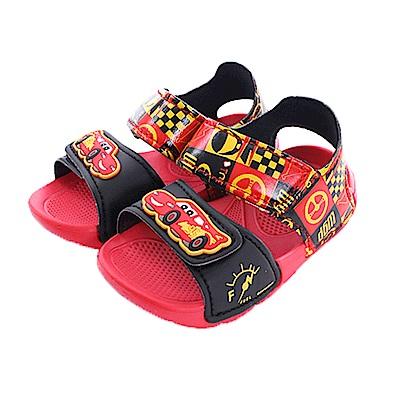 迪士尼閃電麥坤超輕量涼鞋 紅黑 sk0417魔法Baby