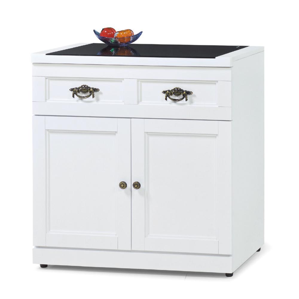 品家居 珍妮佛2.5尺收納餐櫃下座-76.1x40.6x82.4cm-免組