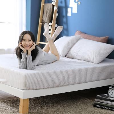 GOODDAY-筆記本(棕) -纖絨棉-防蹣系列-床包 (150x186cm)