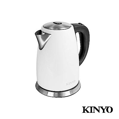 KINYO 1.8L 珍珠白不鏽鋼快煮壺 AS-HP15