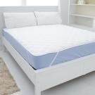 eyah宜雅 台灣製超防水加厚舖棉保潔墊-平單式-雙人加大3件組-含枕墊*2