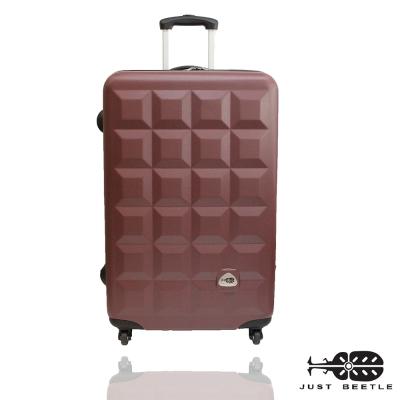 Just Beetle趣味巧克力系列ABS材質24吋旅行箱/行李箱(咖啡色)