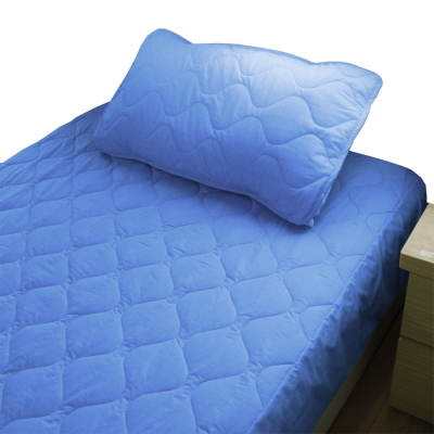 bedtime story 舒適繽紛彩虹保潔墊-靛藍-雙人5尺平單式