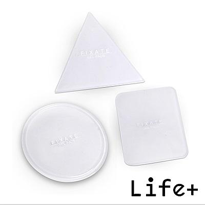 Life Plus 無痕隨行矽膠貼墊/萬用貼/隨手貼 (透明-三角+圓形+方形)