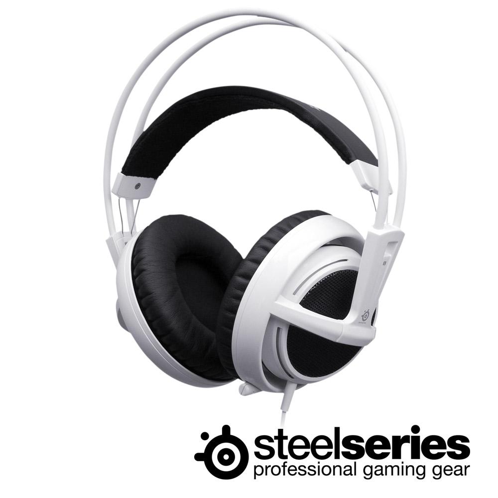 SteelSeries 西伯利亞 V2 白色 電競耳機麥克風