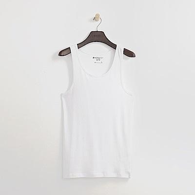 Hang Ten - 男裝 - 舒適優質棉純色背心-白色