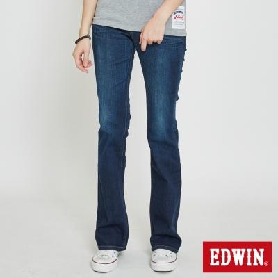EDWIN MISS EDGE靴型褲-女-酵洗藍