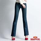 BRAPPERS 女款 美尻腳Royal系列-女用彈性小喇叭褲-藍
