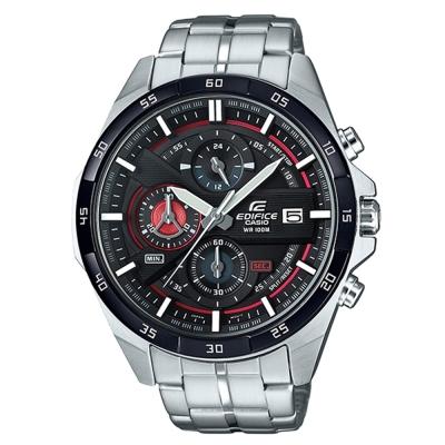 EDIFICE極速俐落3D立體盤設計帥氣指針賽車錶EFR-556DB-1黑框48.7mm
