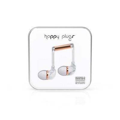 Happy Plugs 特仕限定款入耳式耳機 -大理石紋/玫瑰金