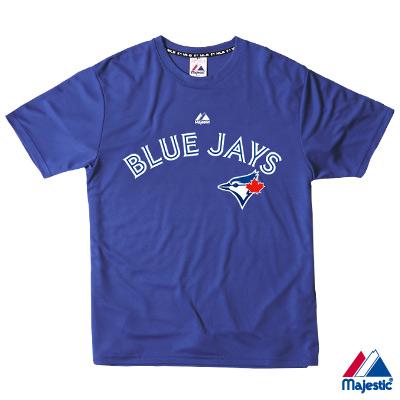 Majestic-多倫多藍鳥隊吸濕排T汗T恤-藍