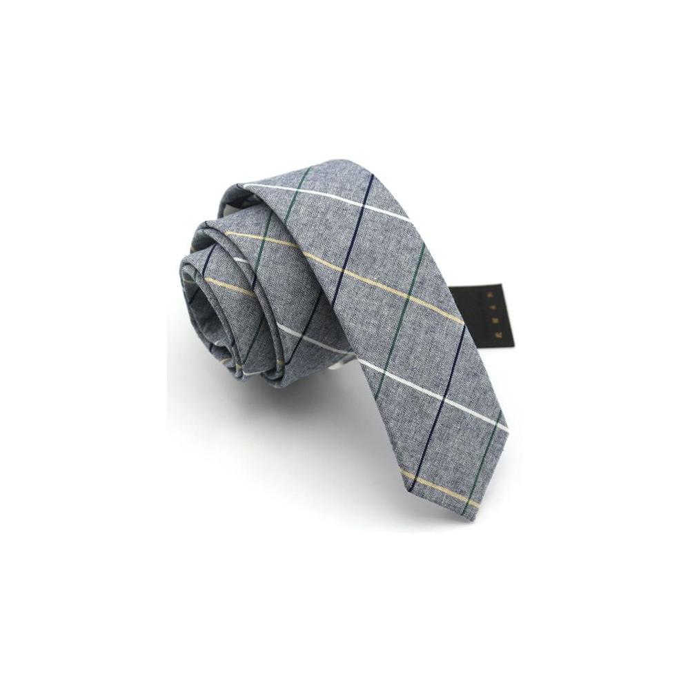拉福 棉質領帶窄版領帶6cm(灰色系)