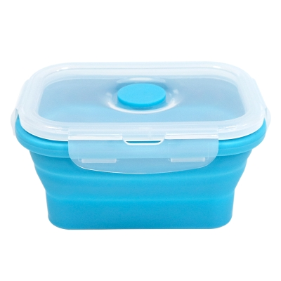 Quasi疊樂矽膠長保鮮盒 藍 350ml (8H)
