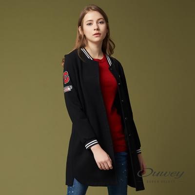 OUWEY歐薇 時尚率性長版外套(黑)