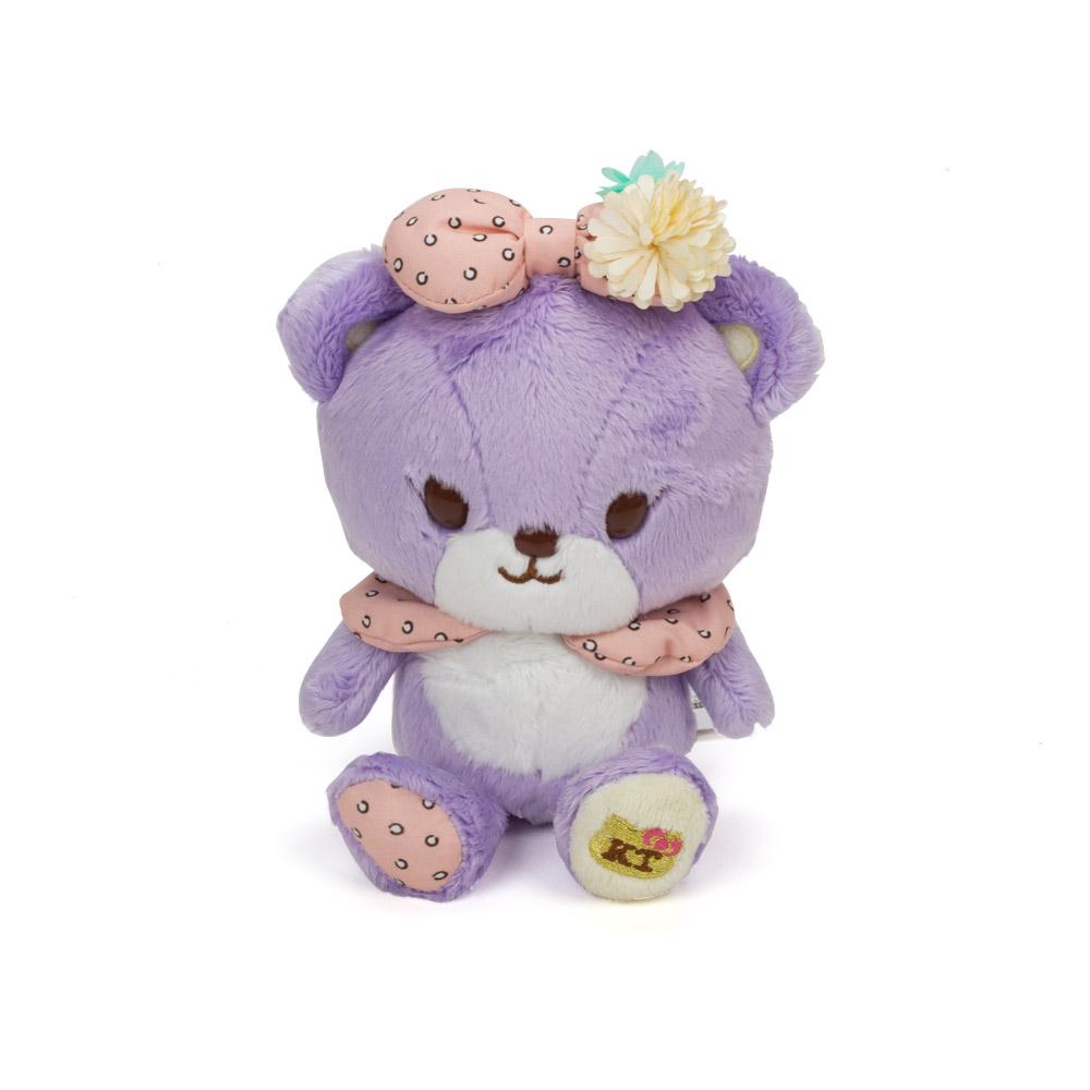 Sanrio HELLO KITTY*NICOLA聯名絨毛娃娃Tinychum小熊紫