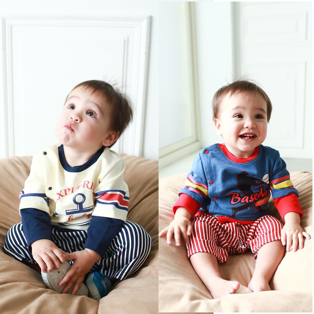 baby童衣 嬰兒棒球裝連身衣 休閒假3件式包屁衣50453