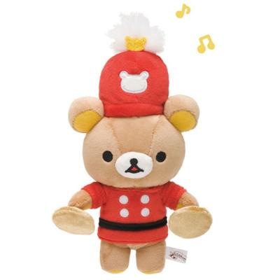 拉拉熊 10周年 Wonderland 系列毛絨公仔。樂隊懶熊。銅鈸