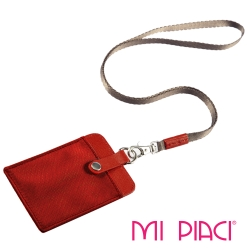 MI PIACI -證件套/識別證套(布配皮款)-直式-橘色-1085658
