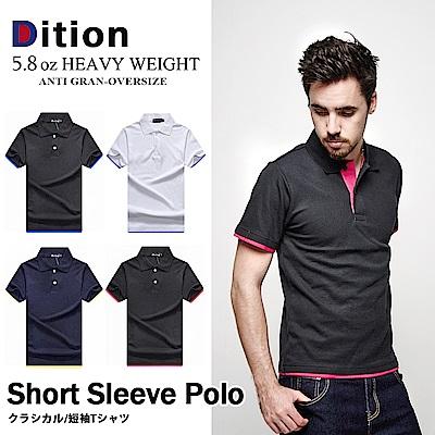 DITION 素面拼接雙色職人POLO衫 多尺寸