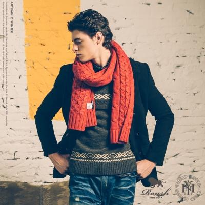 Roush 韓版立體復古提花高磅混羊毛衣 - 3色