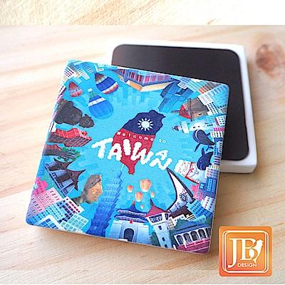 JB Design_就是愛台灣杯墊方磁鐵-760_環島台灣