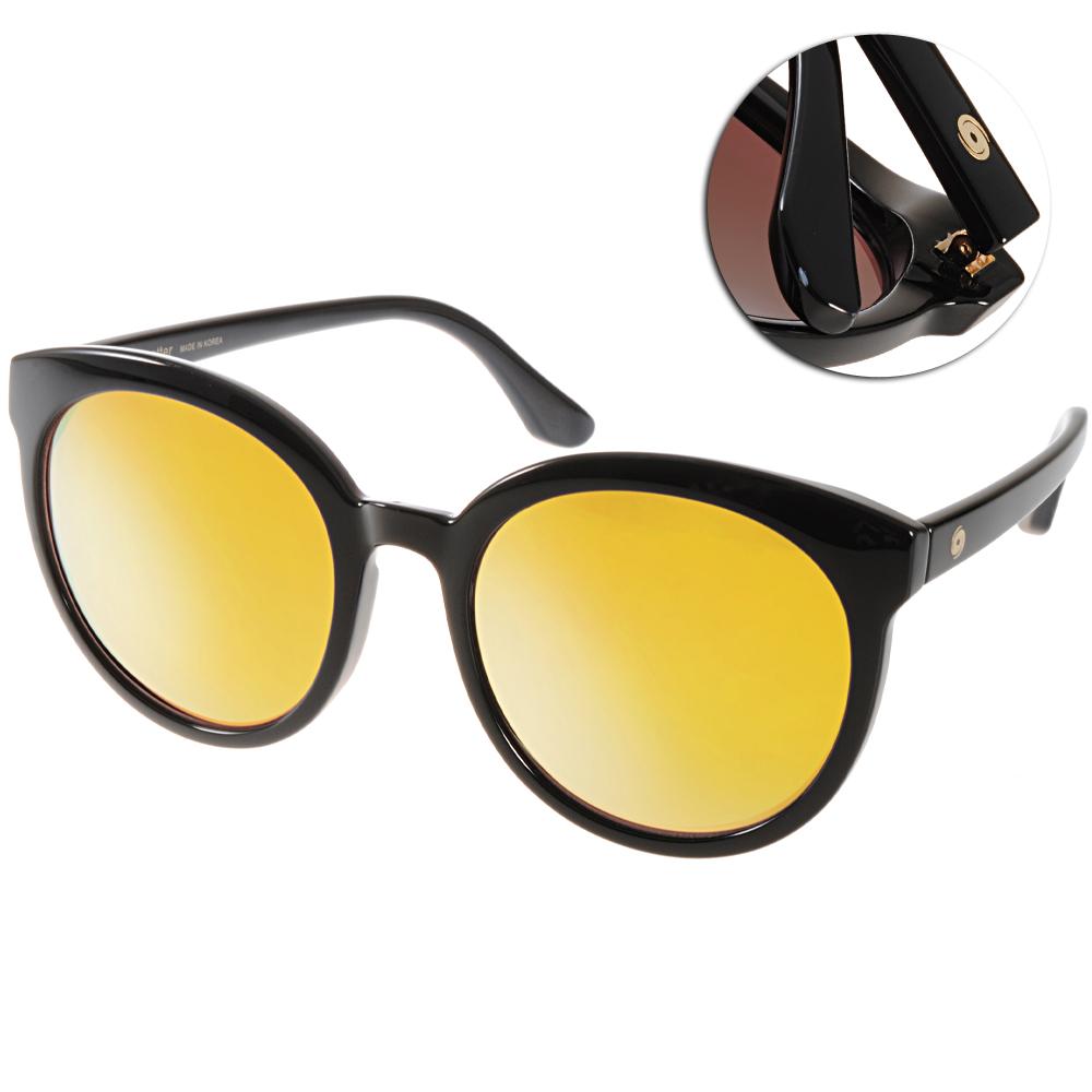 Go-Getter太陽眼鏡 韓系圓框/黑-水銀黃#GS4003 04