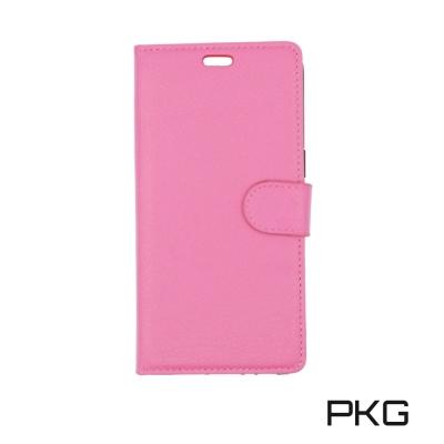 PKG OPPO R11S 側翻式皮套-經典皮套系列-玫紅