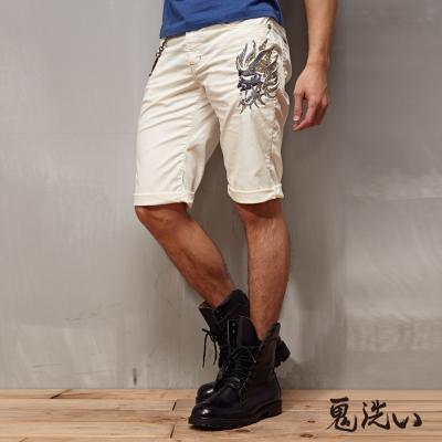 鬼洗 BLUE WAY 機能型涼爽機械鬼頭短褲-白色