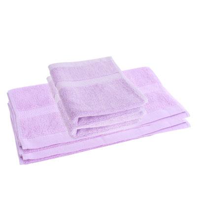 LOVEL 嚴選六星級飯店(毛巾+方巾)超值4件組合(薰紫)