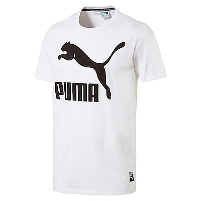 PUMA-男性流行系列No.1 Logo短袖T恤-白色-亞規