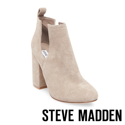 STEVE MADDEN-NAOMI 麂皮高跟踝靴-黑色