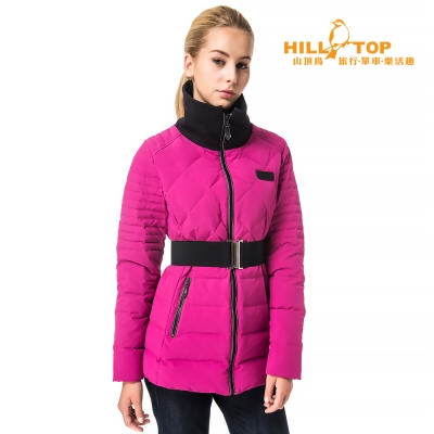 【hilltop山頂鳥】女款超撥水蓄熱羽絨外套F22FW7紫紅