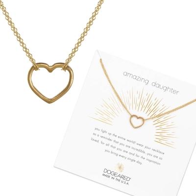 Dogeared Heart 金色愛心項鍊 經典墜 雙層鍊設計 一輩子的支持與守護
