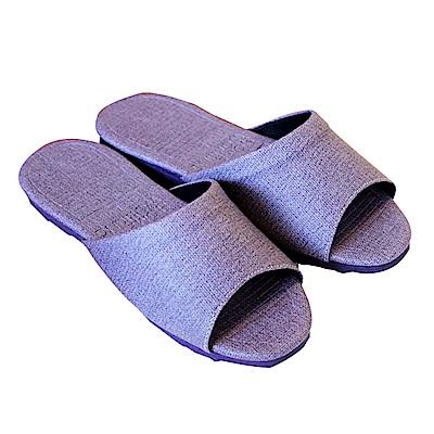 HOME WORKING 新‧日式皮革拖鞋-紫色