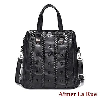 Aimer La Rue 手提側背包 羊皮聖達菲系列(黑色)
