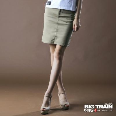 BIG-TRAIN-伸縮配色及膝裙-中卡其