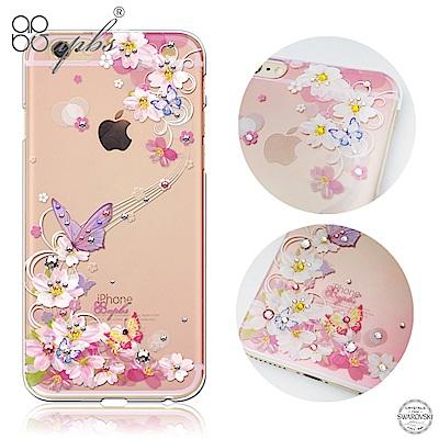 apbs iPhone6s/6 Plus 5.5吋 施華洛世奇彩鑽手機殼-迷蝶香