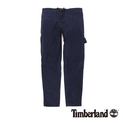 Timberland-男款寶藍色貼袋工作休閒長褲