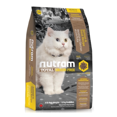 Nutram紐頓 T24無穀貓 鮭魚配方 貓糧 6.8公斤