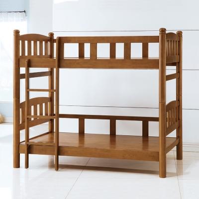 Bernice-圓柱3.5尺全實木雙層床架