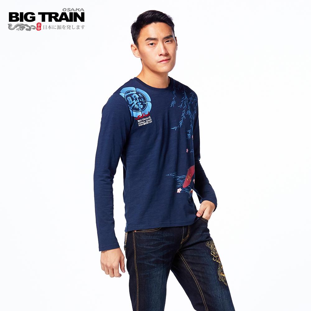 BIG TRAIN 虎嘯小直筒褲-男-深藍