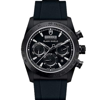 TUDOR帝舵 FASTRIDER 42000CN 黑色計時腕錶-42mm